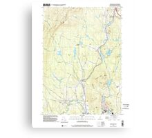USGS TOPO Map New Hampshire NH Grantham 329582 1998 24000 Canvas Print