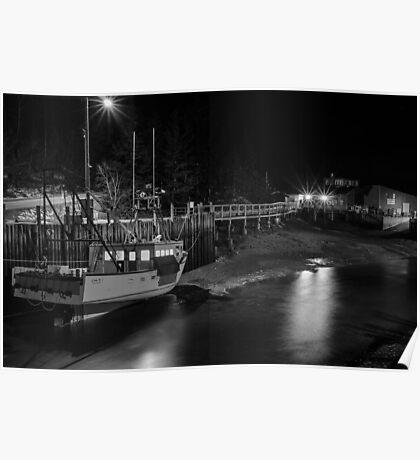 Low tide at Halls Harbour Poster