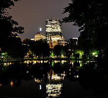 Boston Common Frog Pond by Mike O'Brien
