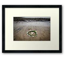 Circles on the beach Framed Print
