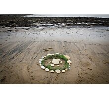 Circles on the beach Photographic Print