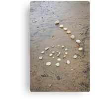 Beach Spiral Canvas Print