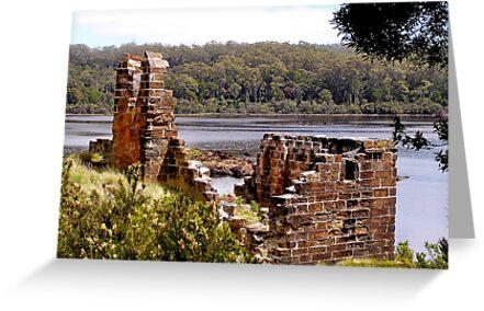 Sarah Island Ruins by Michelle Ricketts