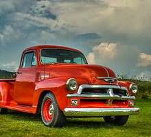 Orange '54 Chevrolet Pickup by HiDefRods