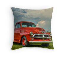 Orange '54 Chevrolet Pickup Throw Pillow