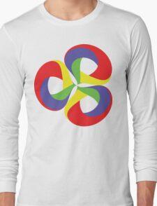 Tripple Multicolored Loops Long Sleeve T-Shirt