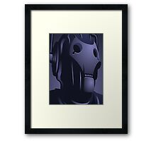 Cyberman from Doctor Who. Framed Print