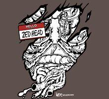 HELLO my name is ZED HEAD (dark colors) Unisex T-Shirt