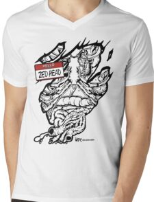 HELLO my name is ZED HEAD (light colors) Mens V-Neck T-Shirt