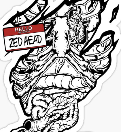 HELLO my name is ZED HEAD (light colors) Sticker