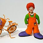 Janine and her Bicycle by Anna Budden