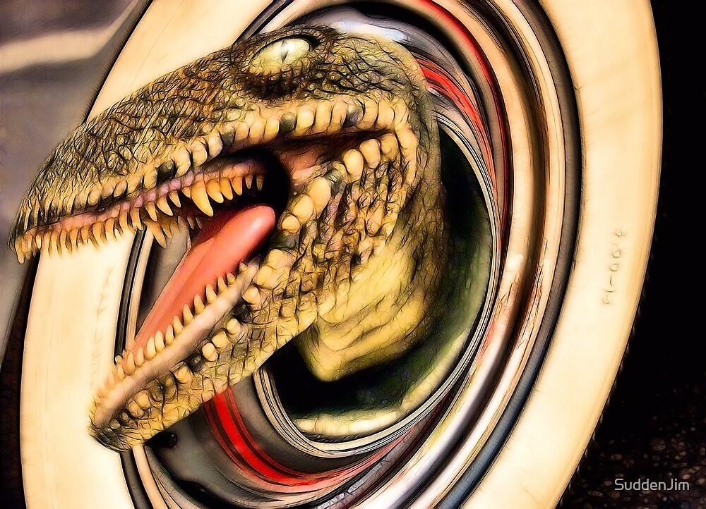 Hub Cap Dinosaur Halo by SuddenJim
