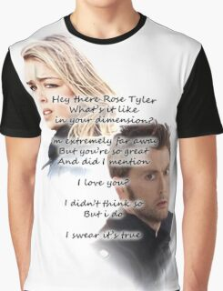 Hey There Rose Tyler (not Delilah) Graphic T-Shirt