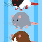 Rat Trio by tanzelt