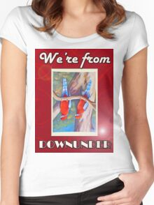 WE'RE FROM DOWNUNDER Women's Fitted Scoop T-Shirt