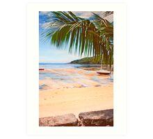 low tide in Seychelles. Art Print