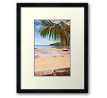 low tide in Seychelles. Framed Print