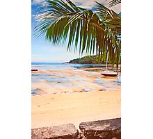 low tide in Seychelles. Photographic Print
