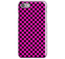 Checkerboard - Purple iPhone Case/Skin