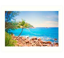 azul turquesa. seychelles. Art Print