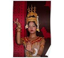Cambodia. Siem Reap. Portrait of a Dancer. Poster