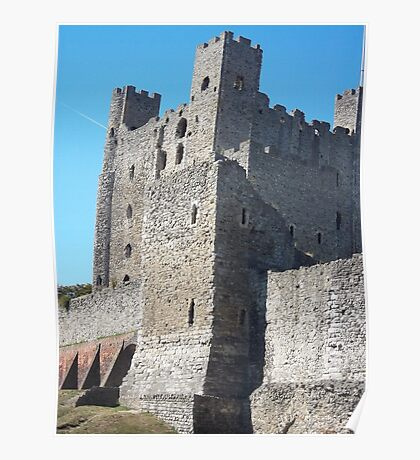 Rochester Castle - Towers in alignment. Poster