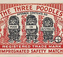 The Three Poodles by Match Box Labels