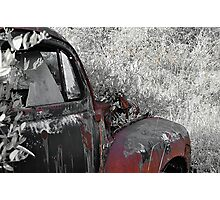 Old truck Fender Photographic Print