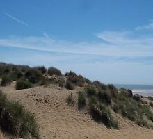 Camber Sands - Over the dunes. by ameythystrune