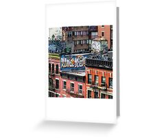 Graffiti Rooftops - New York City Greeting Card