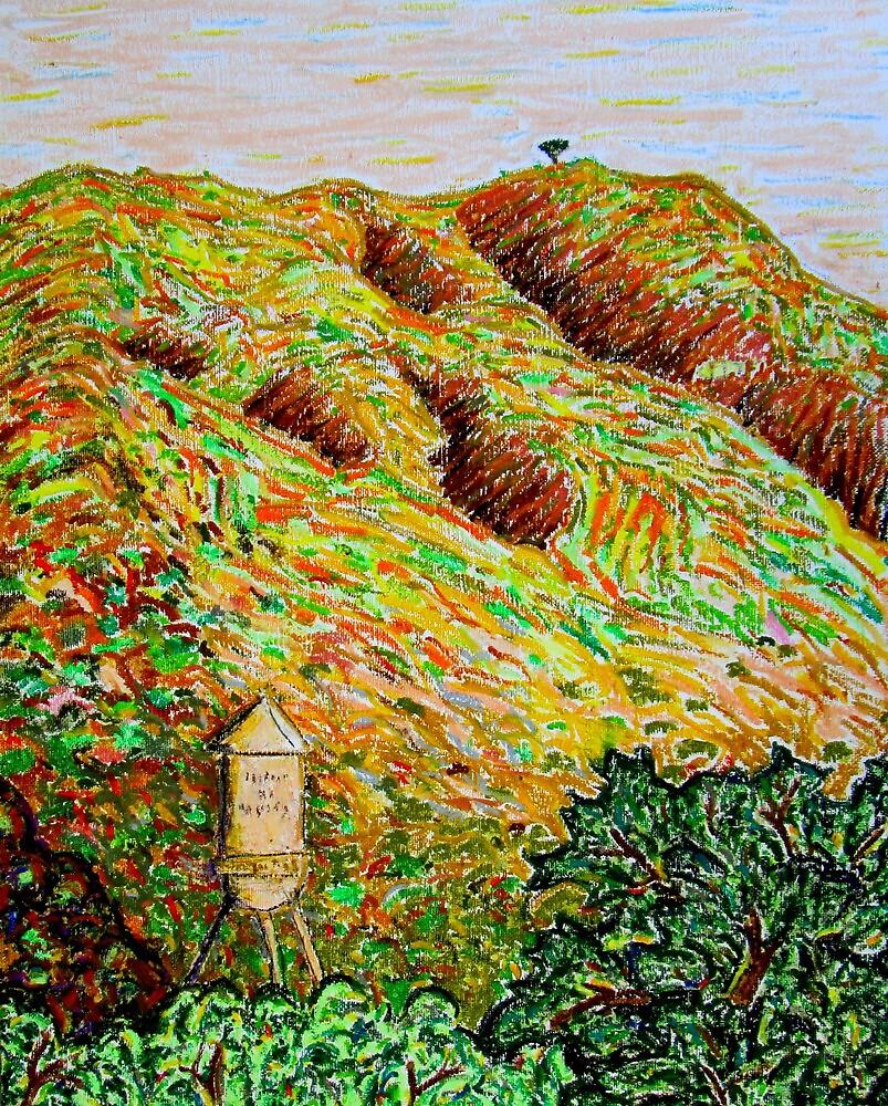Cahuenga Peak, Warner Bros tower, David Olson by David Olson