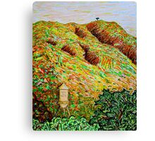 Cahuenga Peak, Warner Bros tower, David Olson Canvas Print