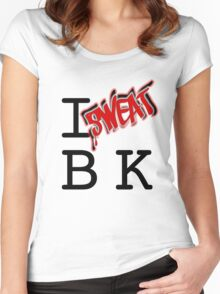 I SWEAT BK Women's Fitted Scoop T-Shirt