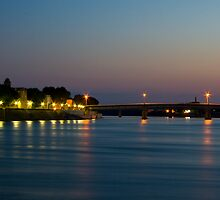 Sunset on the Rhône by Caylena Cahill