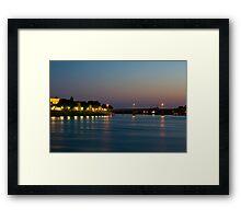 Sunset on the Rhône Framed Print