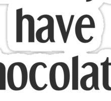 Chocolate. Sticker