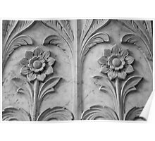 Marble Flowers Poster