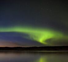 Night Shot Northern Lights by pictureguy