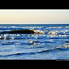 Atlantic Ocean Waves - Smith Point, New York by © Sophie W. Smith