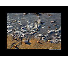 Atlantic Ocean Beach Detail - Smith Point, New York  Photographic Print