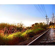 Autumn Railroad Photographic Print