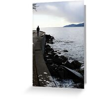 Walk Beside The Ocean Greeting Card