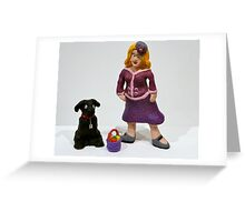 Gladys and Harry the dog Greeting Card