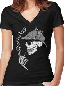 Baker Street  Women's Fitted V-Neck T-Shirt