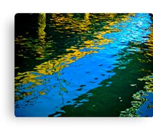 Water Under the Dock Canvas Print