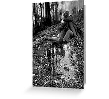 lovers in a landscape - (true love knows not of weather or terrain) Greeting Card