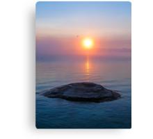 Fishing Cone in Yellowstone Lake at Sunrise Canvas Print