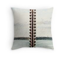 the spit- windy day Throw Pillow