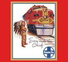 Santa Fe Chief train streamliner ad retro vintage One Piece - Short Sleeve