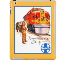 Santa Fe Chief train streamliner ad retro vintage iPad Case/Skin